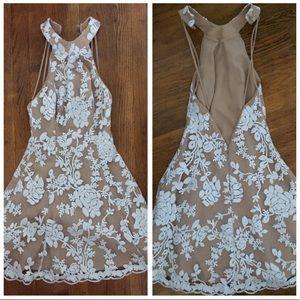 Dress the population white lace dress